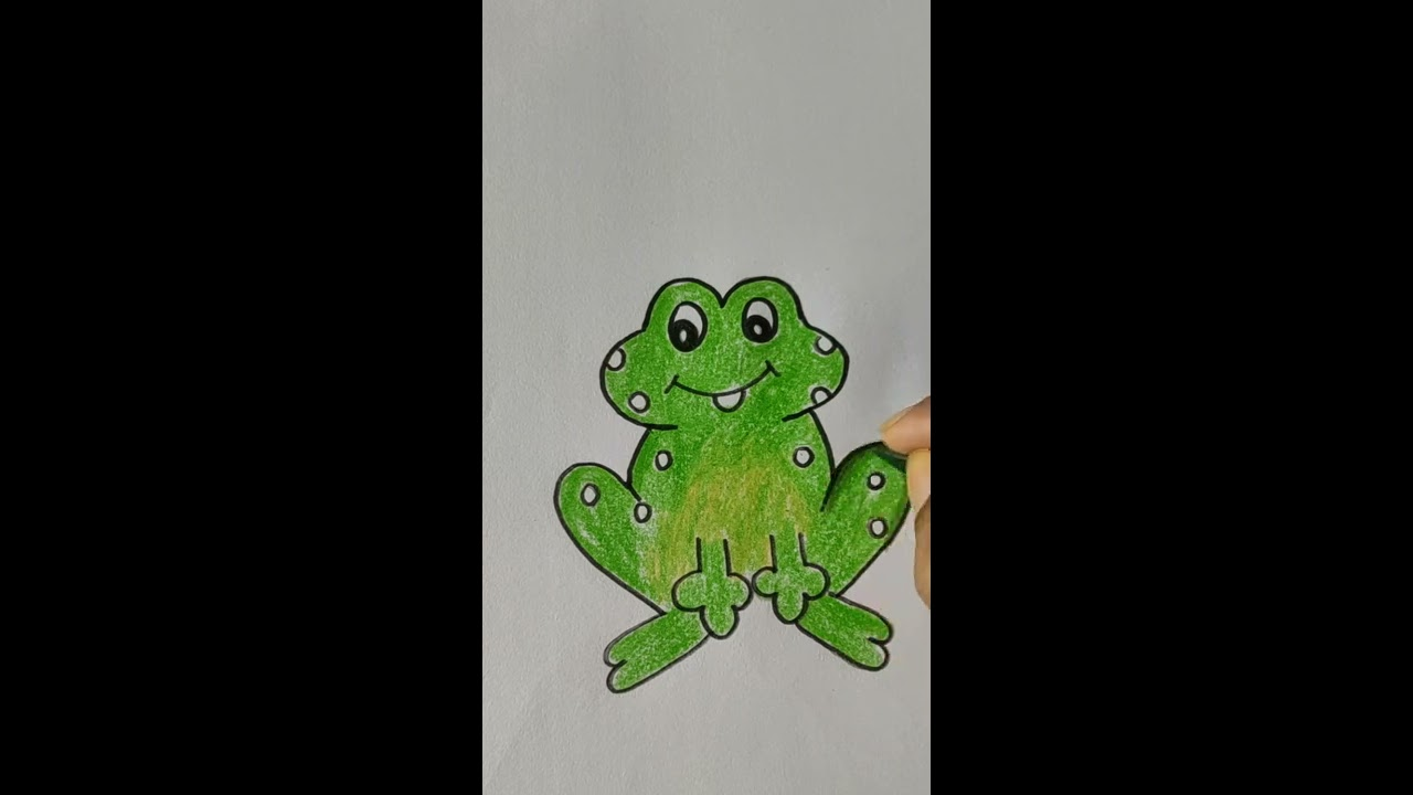 Let us draw a frog in 3 minutes step by step - YouTube