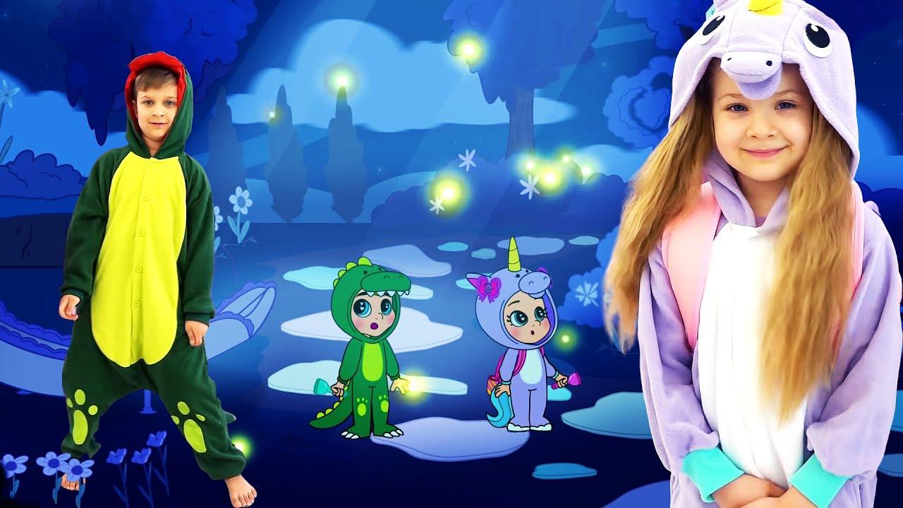 Диана и Рома делают ночники. Не бойся темноты! Мультфильм