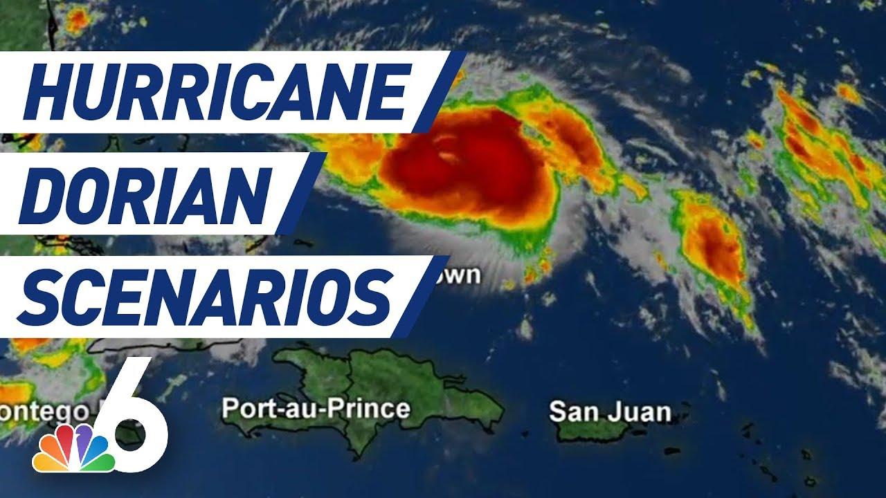 Hurricane Dorian Scenarios Breaking Down Storm S Path Storm Surge Euro Model Nbc 6 Youtube