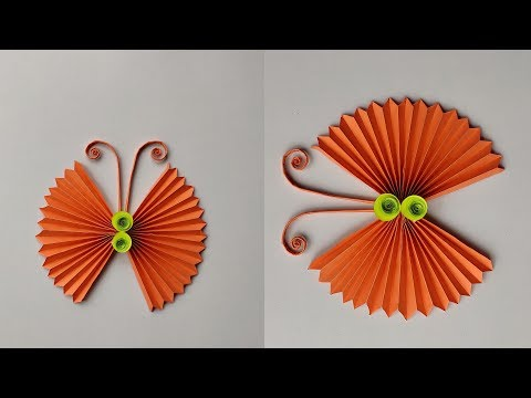 Paper Butterfly || How to make paper butterfly origami || DIY Paper Butterfly Wall Hanging