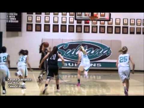 Girls High School Basketball highlight video Karyna Quintanilla Oak Hills High School Hesperia CA