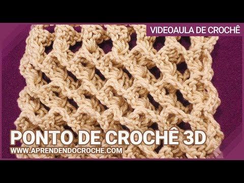 Ponto de Crochê 3D - Aprendendo Crochê