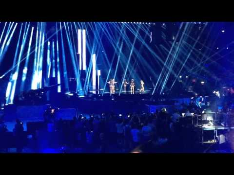 España ensaya por segunda vez en el Globe Arena de Estocolmo