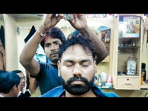 Asmr head massage with neck cracking(Heem Gange Oil)
