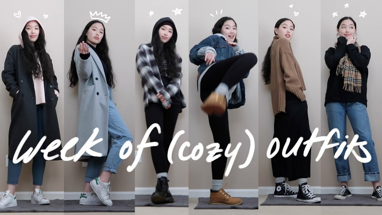 [VIDEO] - a week of cozy outfits in college 🌧☕️ 1
