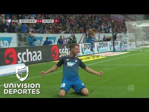 Hoffenheim sorprendió al Bayern y así se puso en ventaja