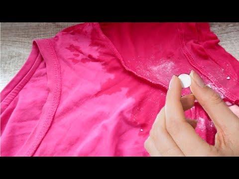 Как отстирать помидор с цветной одежды
