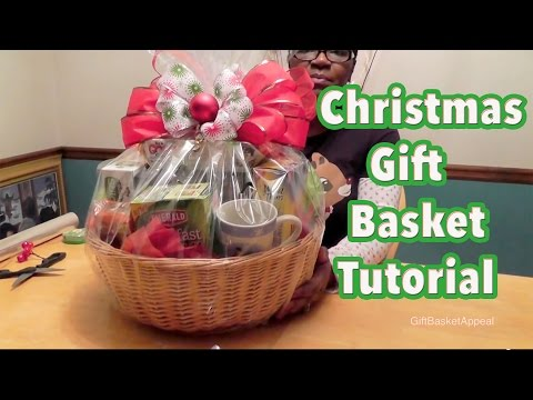 DIY Gift Basket Tutorial - Christmas Gift Basket - GiftBasketAppeal