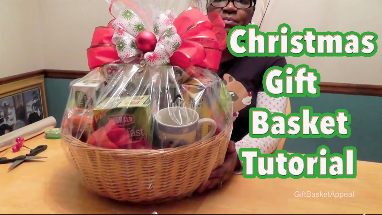 DIY Gift Basket Tutorial - Christmas Gift Basket - GiftBasketAppeal ...