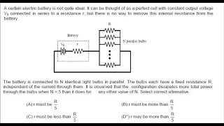 Lecture-25: Current electricity problem(good level)by RKH Sir