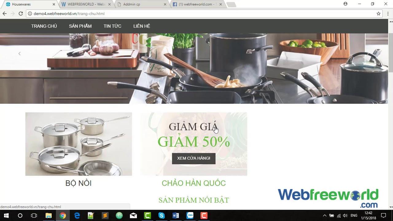 [ web đồ gia dụng ]  1- Thay đổi phần quảng cáo 1.