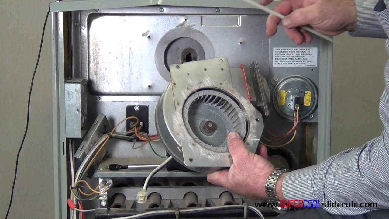 How to replace a combustion air blower motor - YouTube