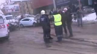Дтп, Самара. Ваз 2114 и Opel Astra. Московское шоссе. 28.01.12 г. .3gp