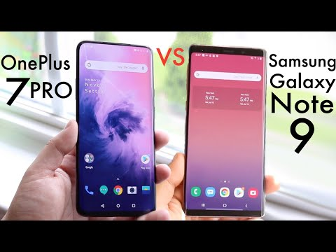 Samsung Galaxy Note 9 Vs OnePlus 7 Pro Comparison Review
