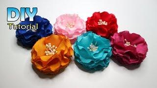 DIY || How to make fabric flower | Cara membuat bunga loly | Dari kain | Bros handmade
