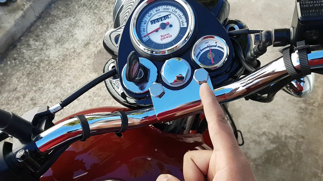 How To Use The Ammeter Amp Meter In Royal Enfield Classic 350 And Distance Between Connection Of Discharge Side Bullet