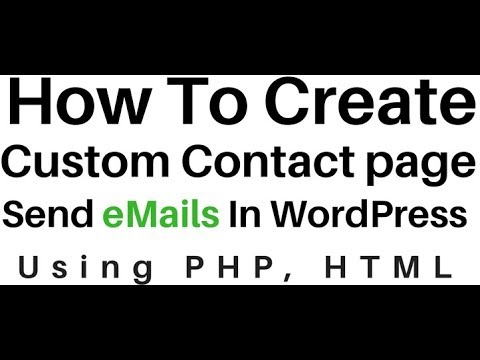 How To Send EMail Using PHP In WordPress (4.7.5) HTML Contact Form