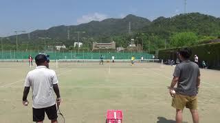 【前日試合】2019年 全日本実業団ソフトテニス 広島県予選 NTT西日本中国 サーブレシーブ