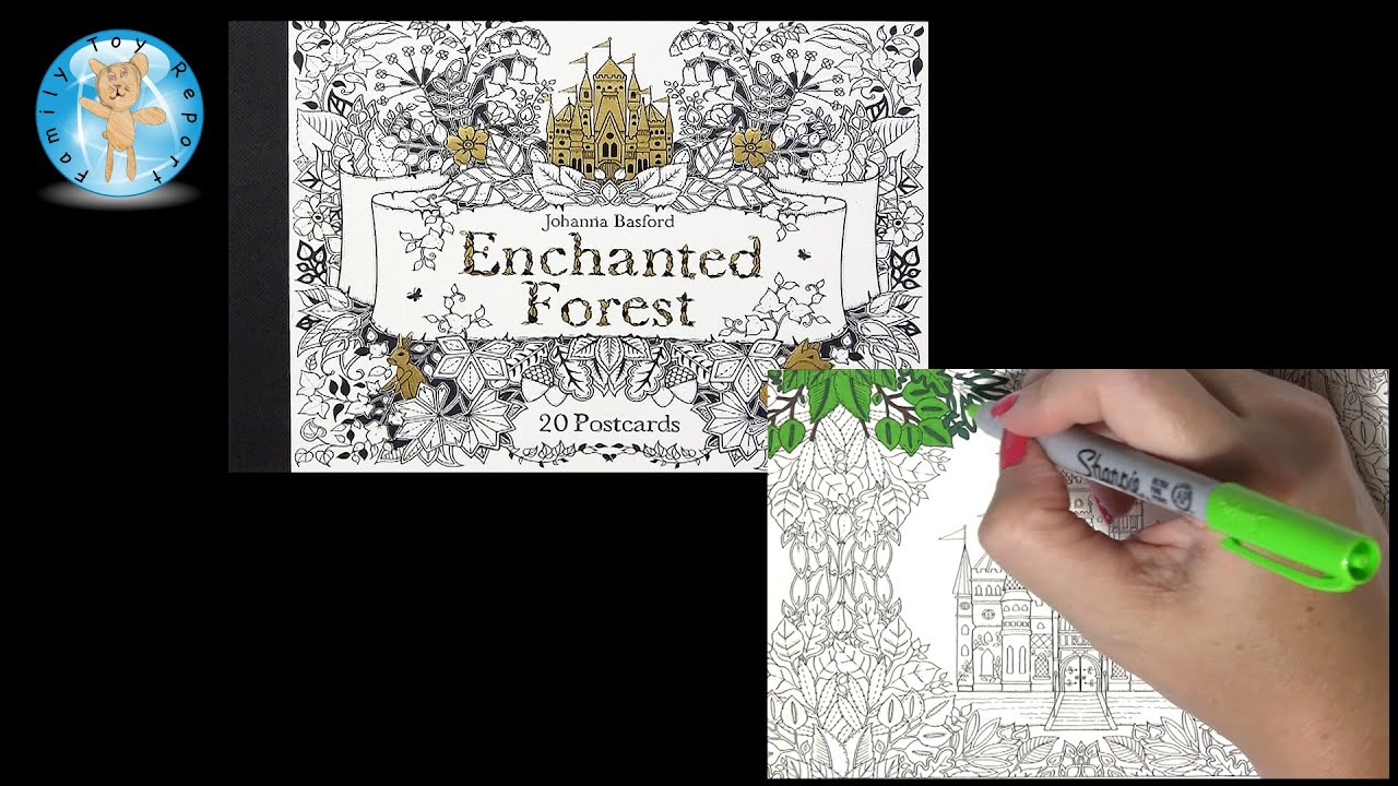 Enchanted Forest Johanna Basford Adult Coloring Book Postcards Castle Sharpie