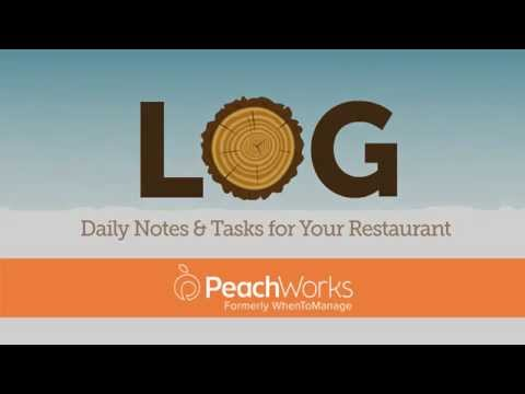PeachWorks Log: Daily Notes and Checklists