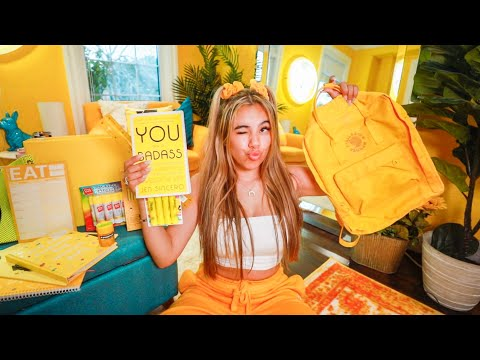 I Bought ONLY YELLOW Back to College / School Supplies Haul!