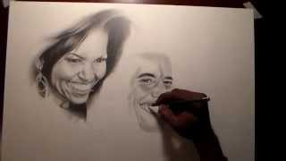 How to Draw Barack and Michelle Obama
