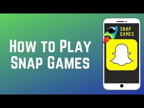 How To Find And Play Snap Games On Snapchat! New Feature 2019