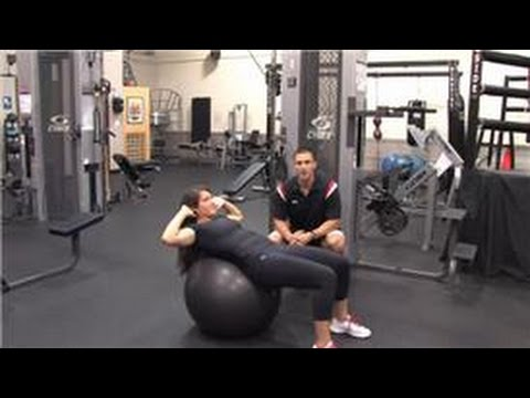 Weight Training : How Do I Do Crunches on an Exercise Ball?