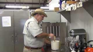 Making Egg Nog Ice Cream 2013