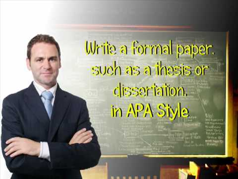 How to Start a Thesis or Dissertation in APA Style
