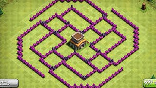 Clash of Clans - *New* TH8 Trophy Pushing/War Base 4 Mortars! 2015