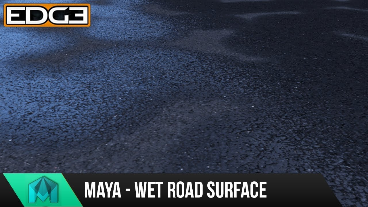 Maya Tutorial - How to Create Wet Road Surface in Arnold
