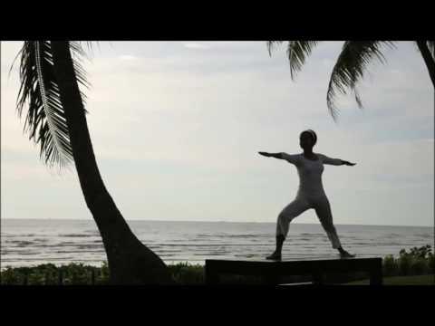 Relaxing Natural Ocean Waves Yoga Meditation    Binaural Beats    Meditation TV    2017
