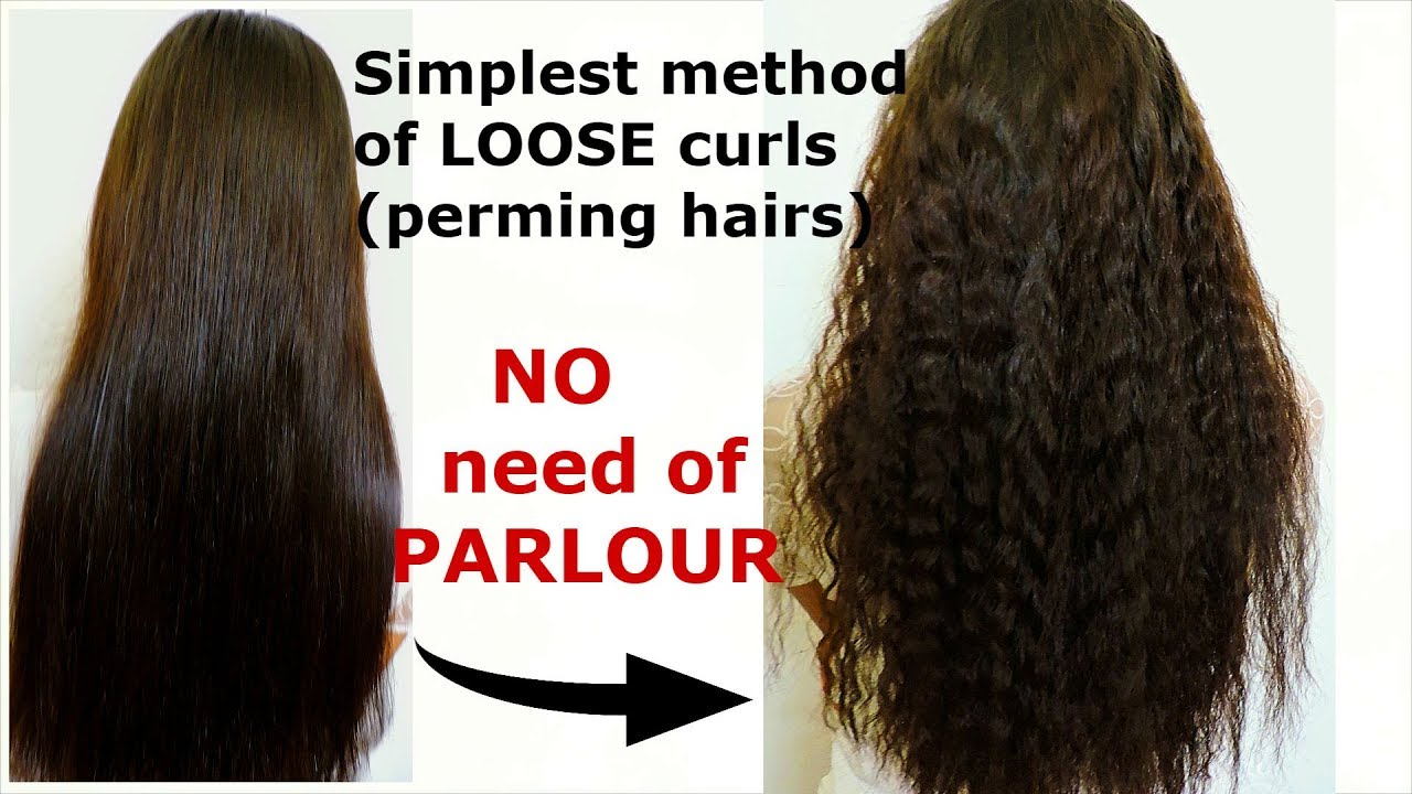 Loose Small Curl Only Using Straightener How To Perm Hairs At Home