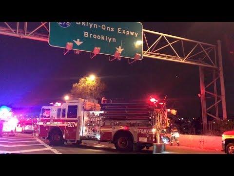 FDNY - On Scene - 3 Car Collision on I495 In Maspeth, Queens