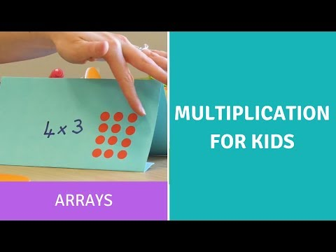 Multiplication for Kids-Arrays-Times Tables-Arithmetic-Common Core -Math Help -Home school -Addition