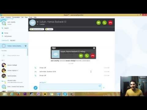 Make a Group Video&Audio call on Skype 2015