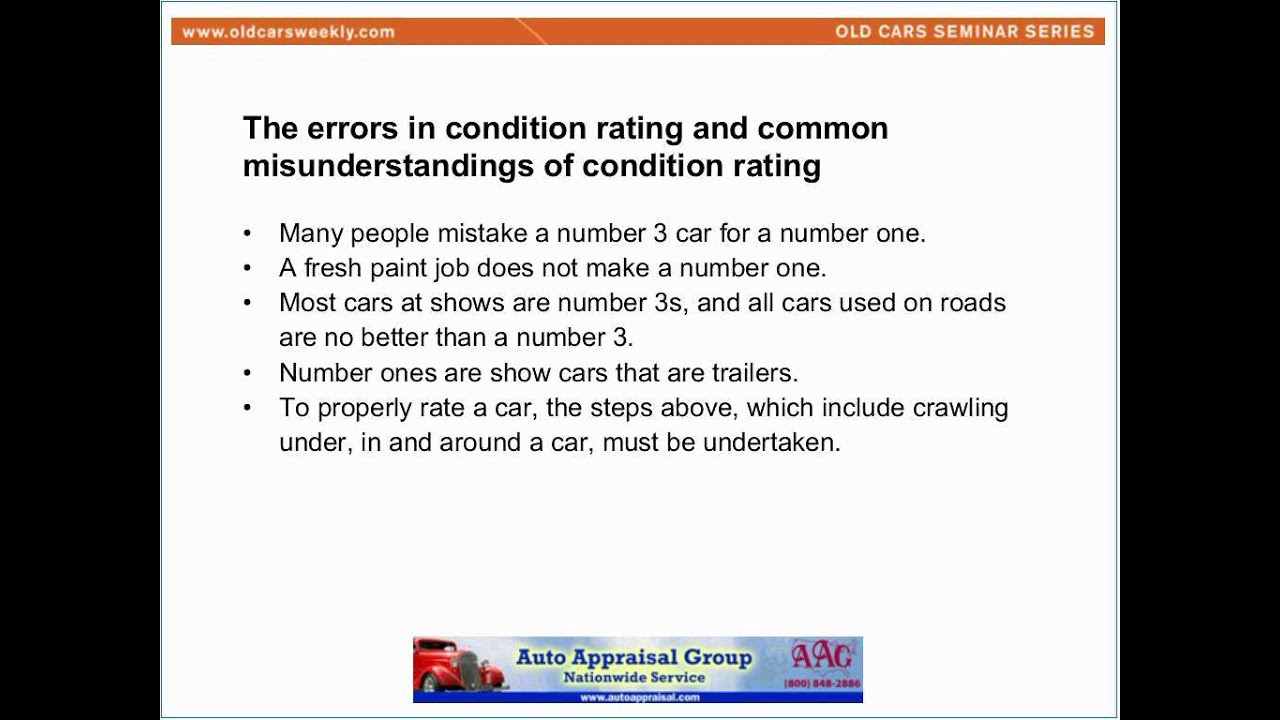 How to Condition Rate Your Car - YouTube