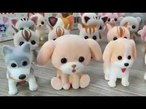 Little Cute PVC Flocking Animal Sheep Dolls Birthday Gift Kids Toy