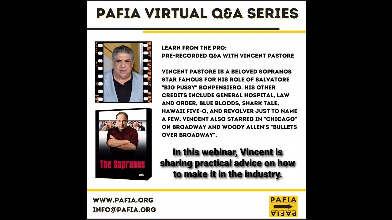 Masterclass with Vincent Pastore