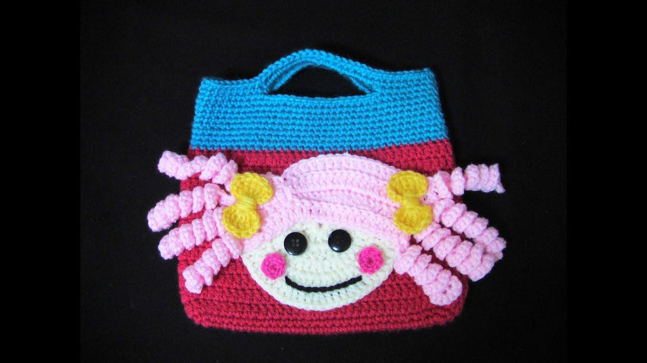 73c355bd375 Πλεκτη Τσαντα Lalaloopsy (μερος 2ο) / Crochet Lalaloopsy Bag Tutorial (part  2)