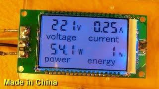 Peacefair PZEM-021 (v2.0) - Вольтметр, Амперметр, Ваттметр, Счётчик потреблённой энергии