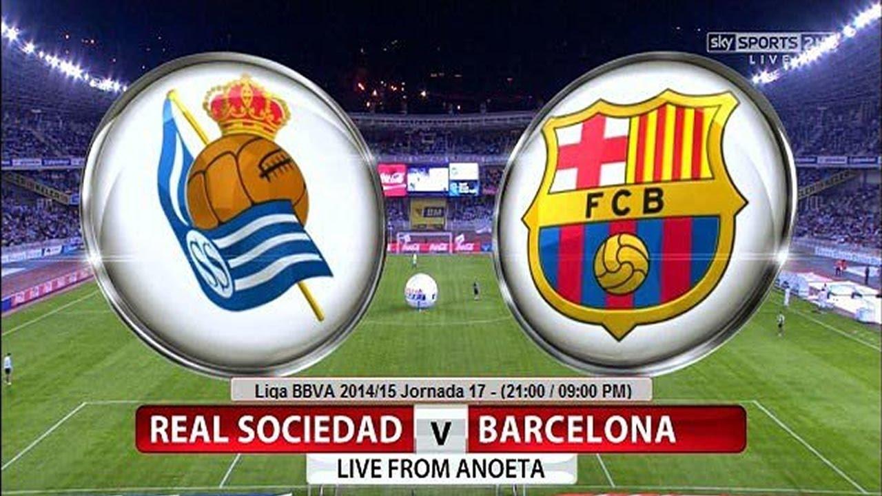 Real Sociedad vs Barcelona en vivo - YouTube