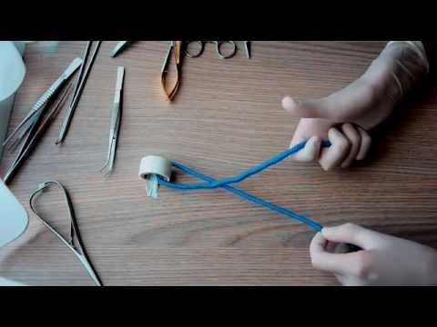 Basic surgical knot / хирургический узел, 1080р!