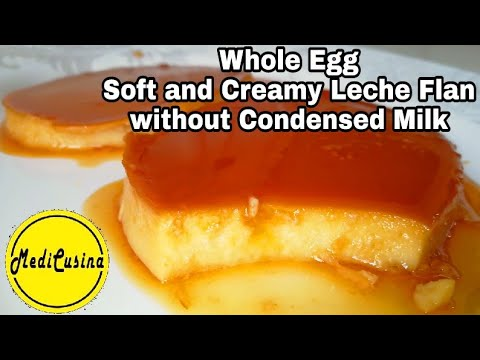 Whole Egg Leche Flan   Soft And Creamy Without Using Condensed Milk
