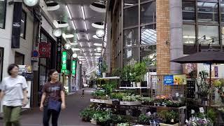 Walking in KURASHIKI City - Japan - Arcade Shopping Area - Okayama Prefecture