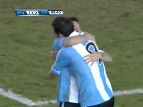 Argentina vs Chile 4-1 [2014 FIFA World Cup South America] 07/10/2011