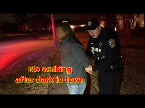 Friendswood,Tx.- Walking after dark is a crime