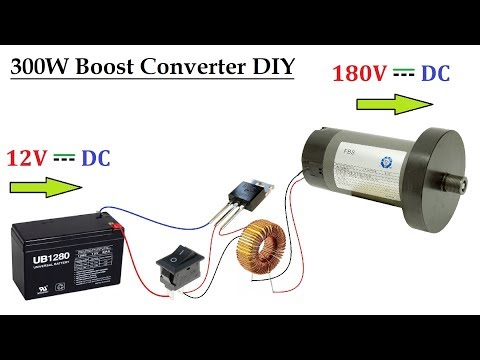 12v-(-ups-battery-)-to-180v-dc-converter-for-dc-motor-upto-300w---dc-to-dc-voltage-boost-circuit