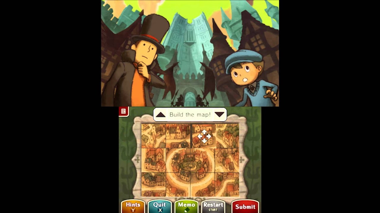 Puzzle Solution Puzzle 08 Map Mishap Professor Layton vs Phoenix